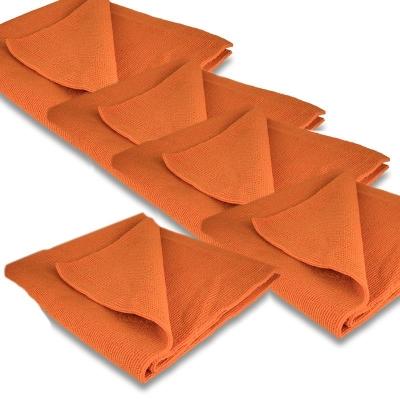 5 x Liquid Elements Red Snapper Mikrofaser- Poliertuch 40x40cm 400GSM