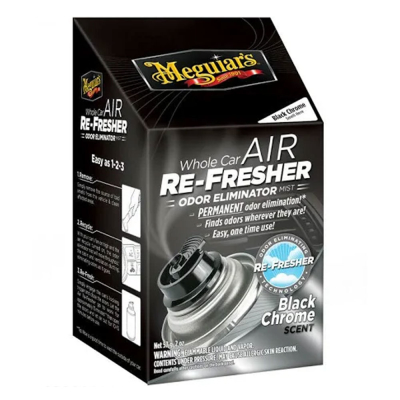 MEGUIARS AIR RE FRESHER,  BLACK CHROME 59 ml