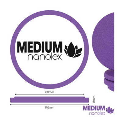 Nanolex Polier Pad 170x13x150, Medium, Lila x3 VERSION 2020