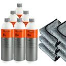 6x Koch Chemie Eulex Eu 1000 ml | Klebstoff- & Fleckenentferner inkl. 6 x Kingsize Boss Cloth