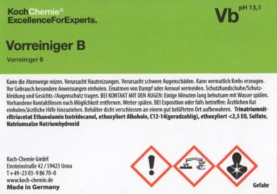 Koch Chemie Etiketten für Leerflaschen Vb   Vorreiniger B